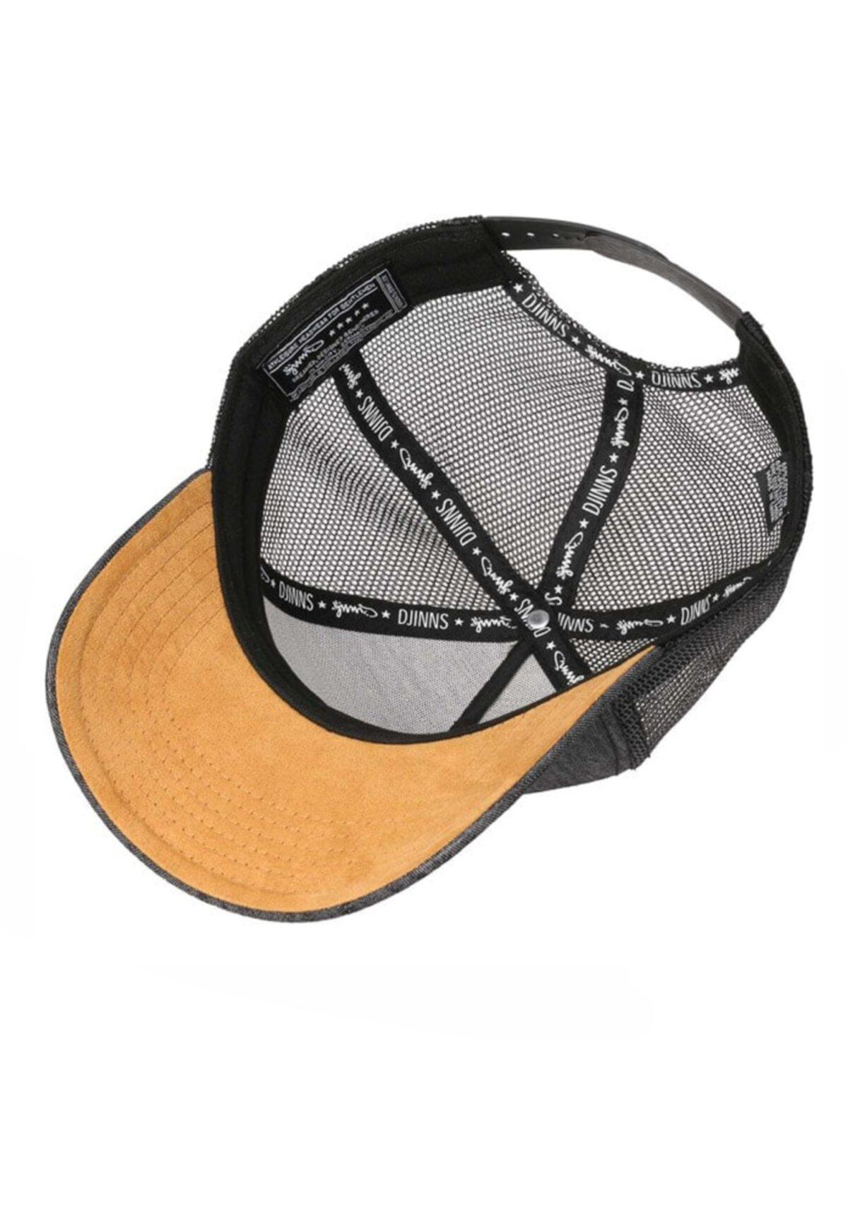 Djinns Linen Snapback Mesh Cap black