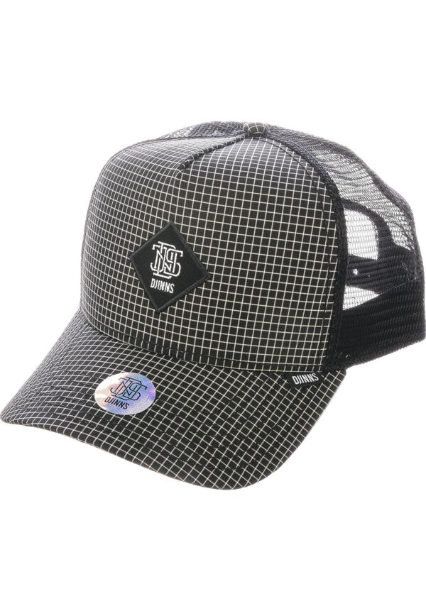 Djinns Trucker Cap HFT Needle Check 2020 black