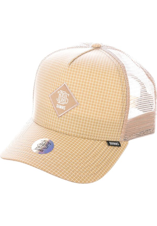 Djinns Trucker Cap HFT Needle Check 2020 beige