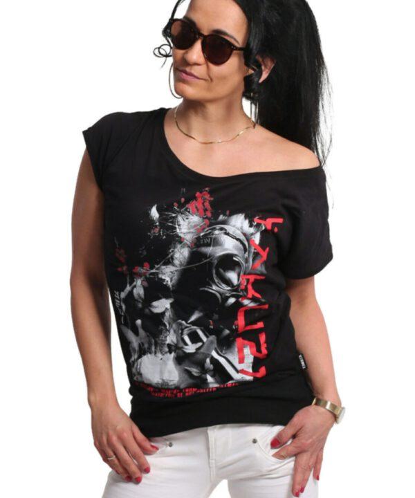 Yakuza Respirator V02 Wide Crew T-Shirt GSB-17123 black