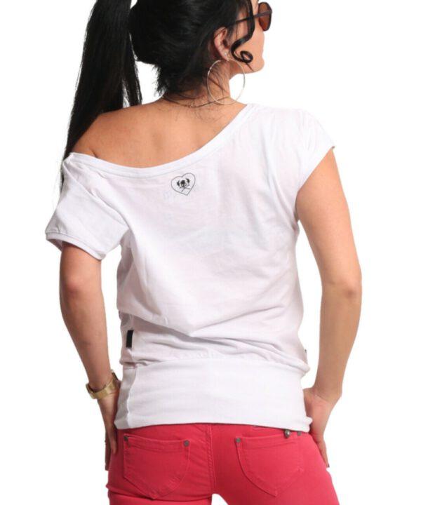 Yakuza Respirator V02 Wide Crew T-Shirt GSB-17123 weiß