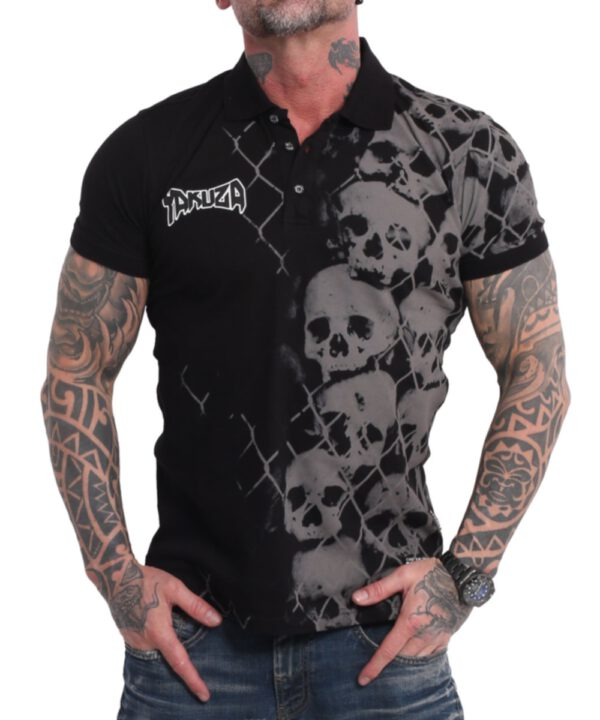 Yakuza Killing Fields Polo Shirt TPO-17043 black
