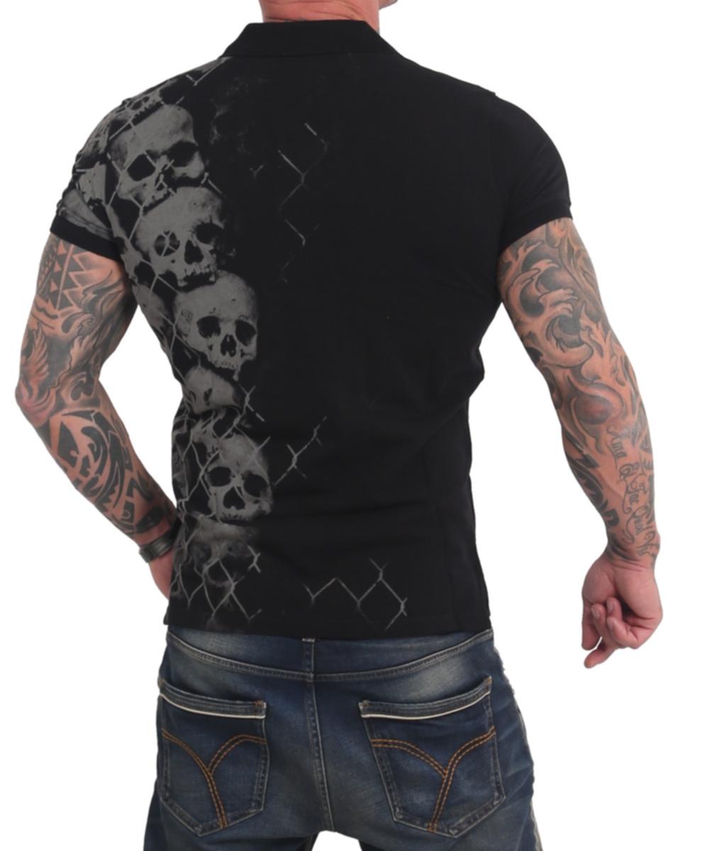 Yakuza Killing Fields Polo Shirt TPO-17043 black