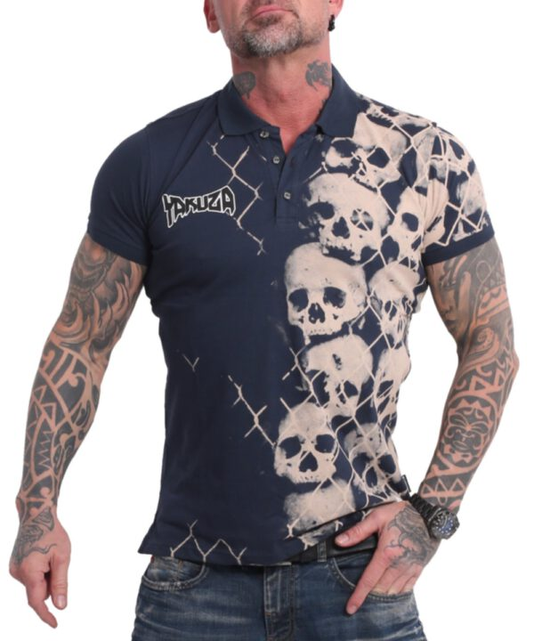 Yakuza Killing Fields Polo Shirt TPO-17043 midnight navy