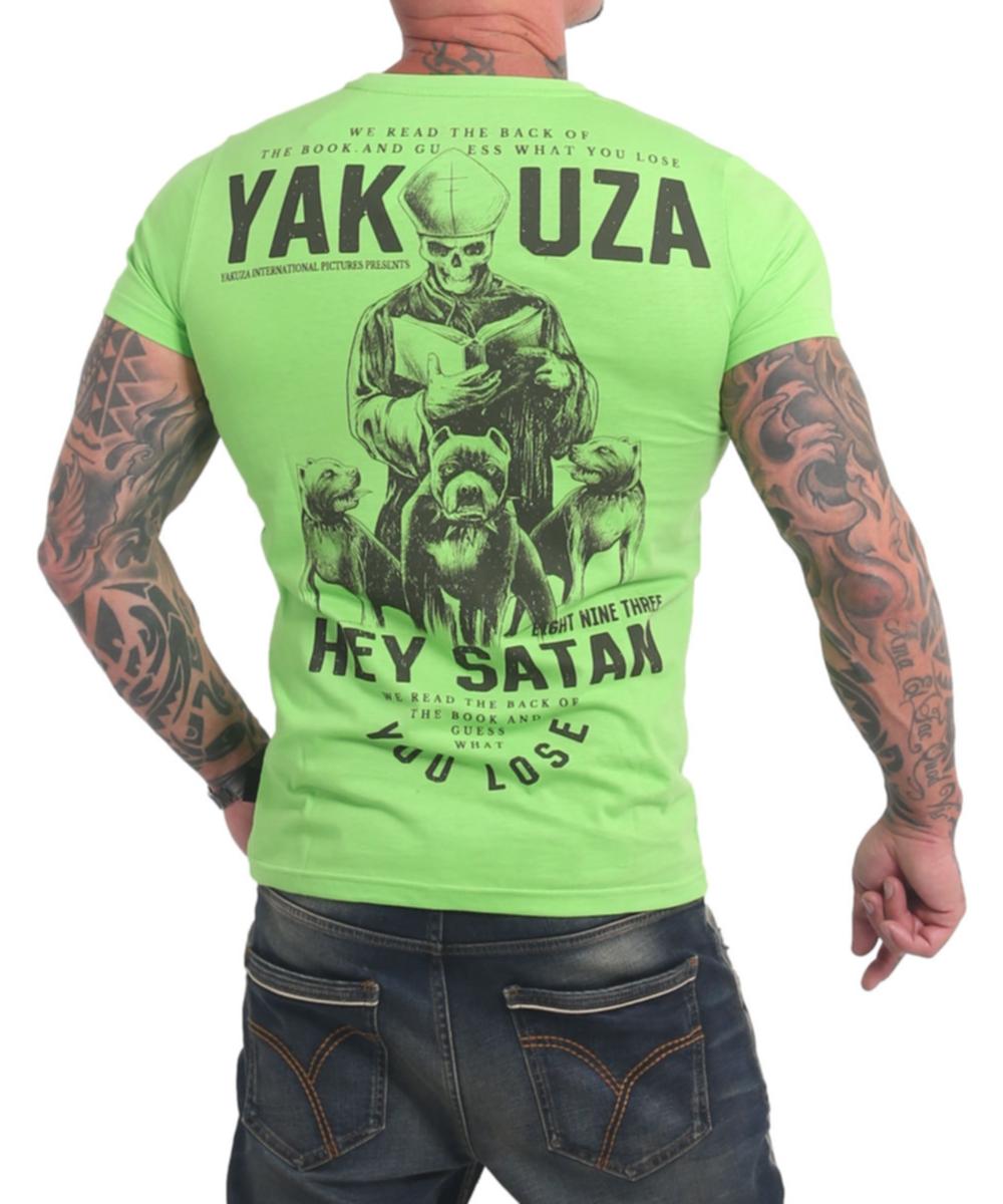 Yakuza Hey Satan T-Shirt TSB-17023 jasmin green