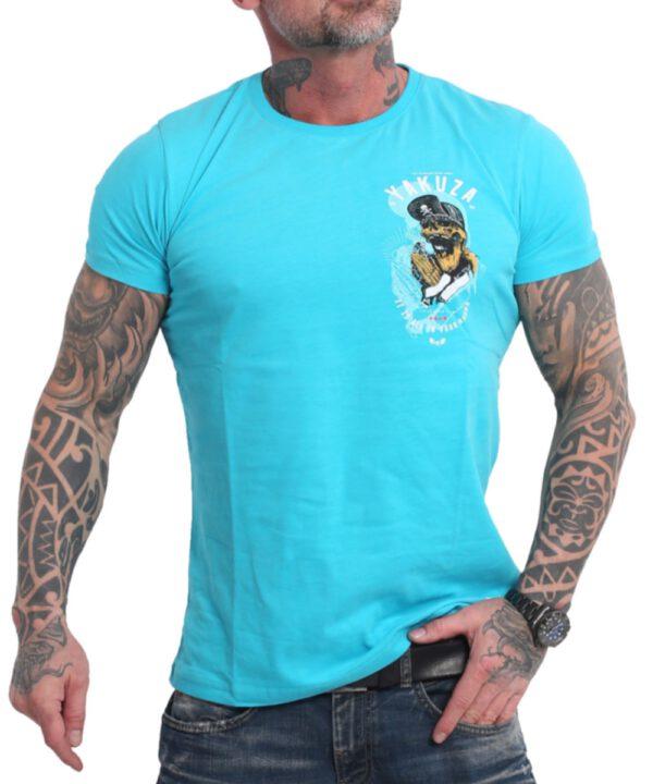 Yakuza Wey T-Shirt TSB-17035 scuba blue