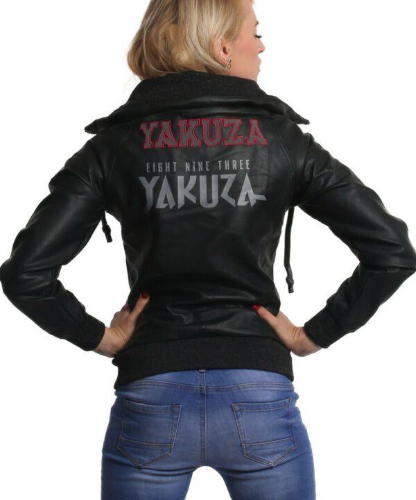 Yakuza Damen Fibre Kunstlederjacke GJB-16115 schwarz