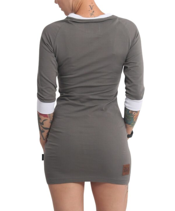 Yakuza Glowing Skull Bodycon Kleid GKB-17116 dark gull gray