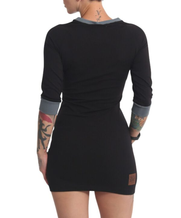 Yakuza Glowing Skull Bodycon Kleid GKB-17116 black