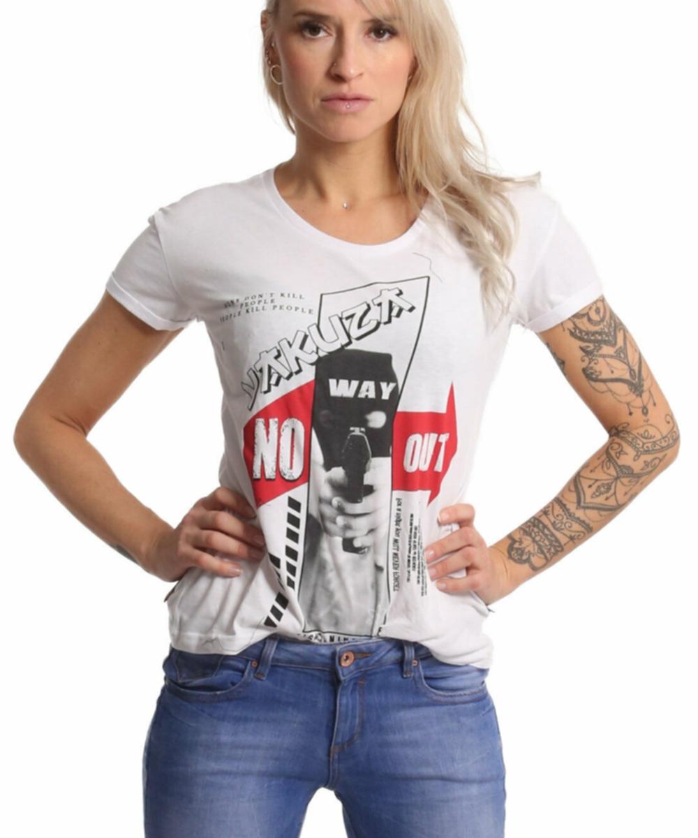 Yakuza No Way Out T-Shirt GSB-17138 weiß