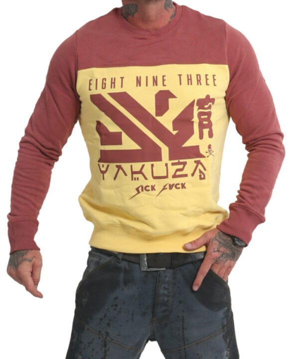 Yakuza Nippon Two Face Pullover PB 17014 pale banana
