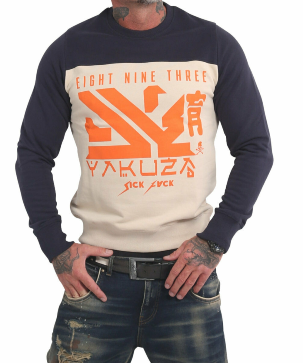 Yakuza Nippon Two Face Pullover PB 17014 white cap grey