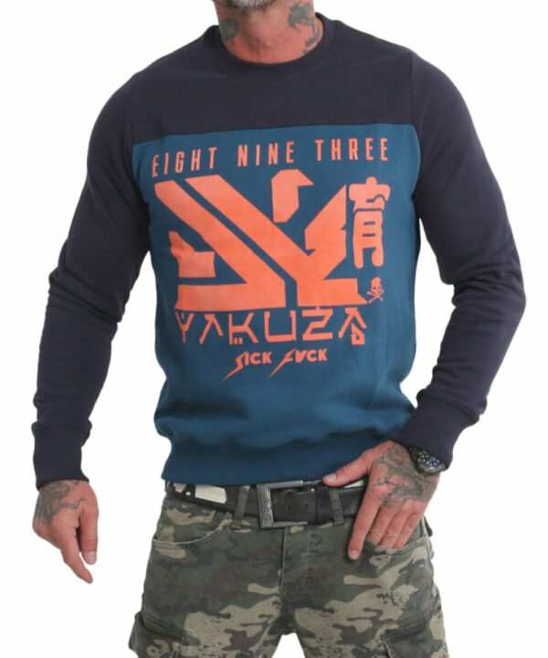 Yakuza Nippon Two Face Pullover PB 17014 mallard blue