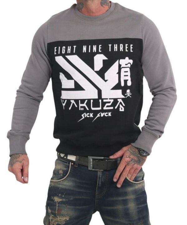 Yakuza Nippon Two Face Pullover PB 17014 schwarz