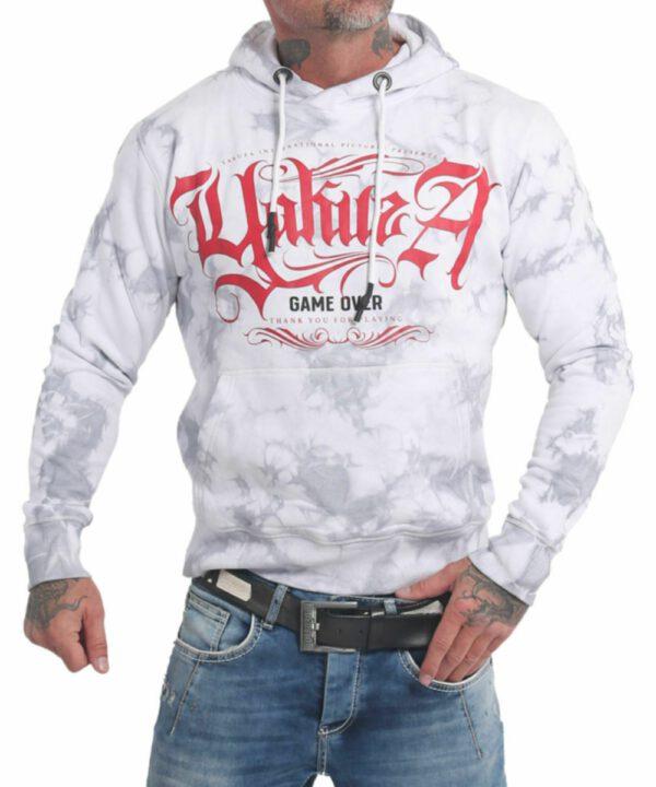 Yakuza Rules Batik Hoodie HOB-17006 weiß