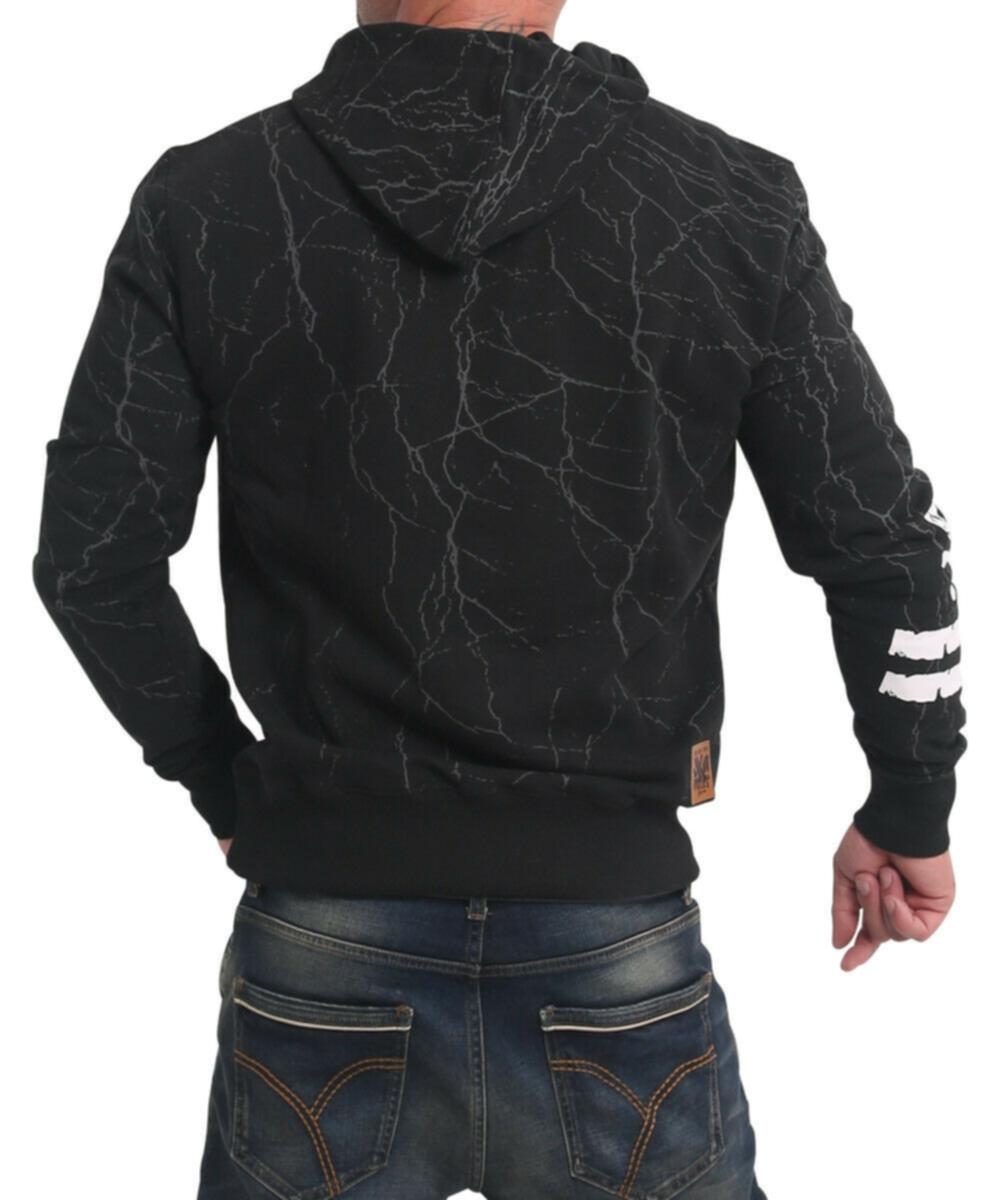 Yakuza Herren Toxin Kapuzenpullover HOB-17004 black