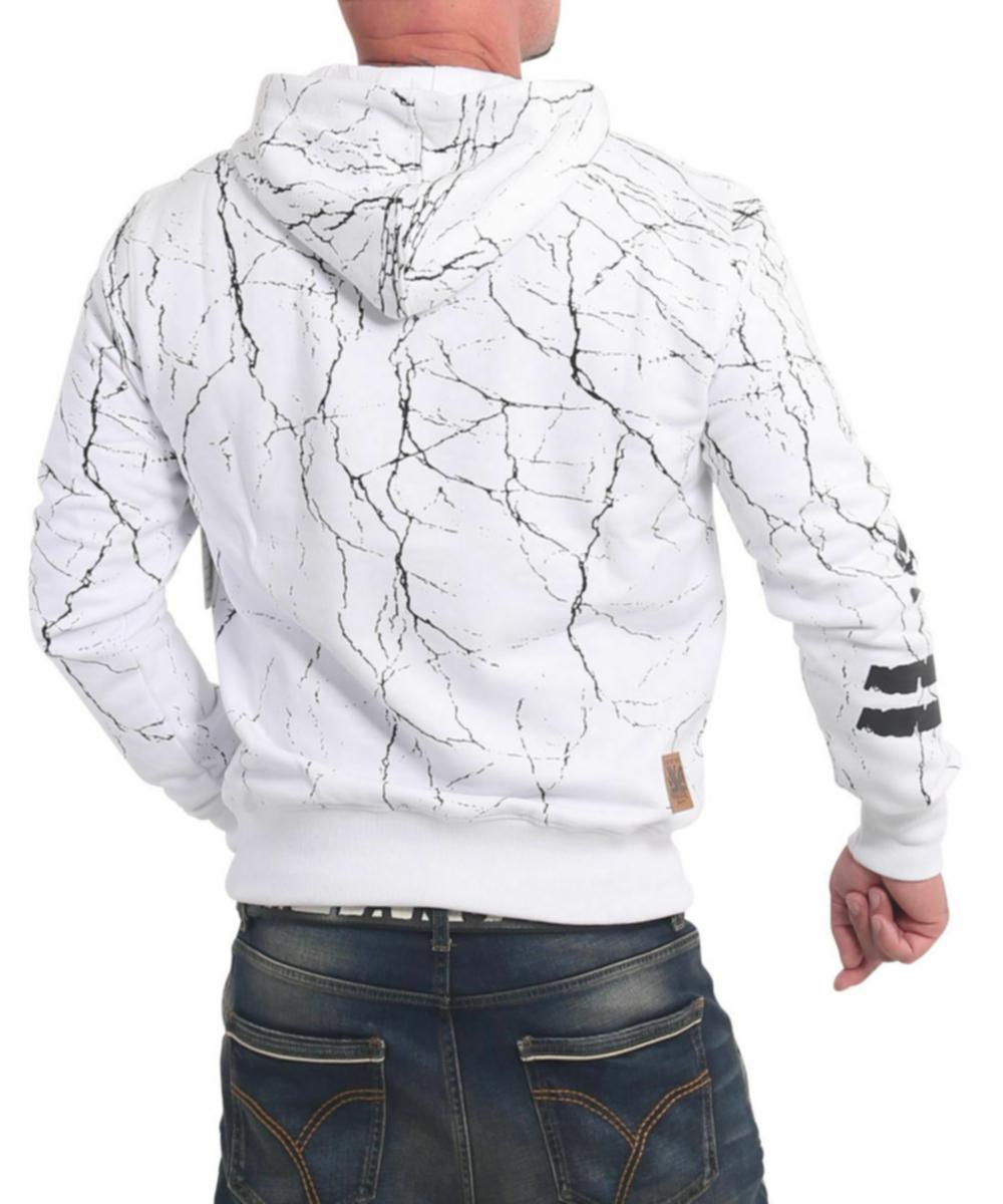 Yakuza Herren Toxin Kapuzenpullover HOB-17004 weiß