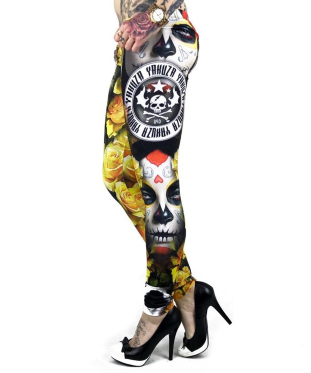 Yakuza Leggings LEB 9144 mulitcolored