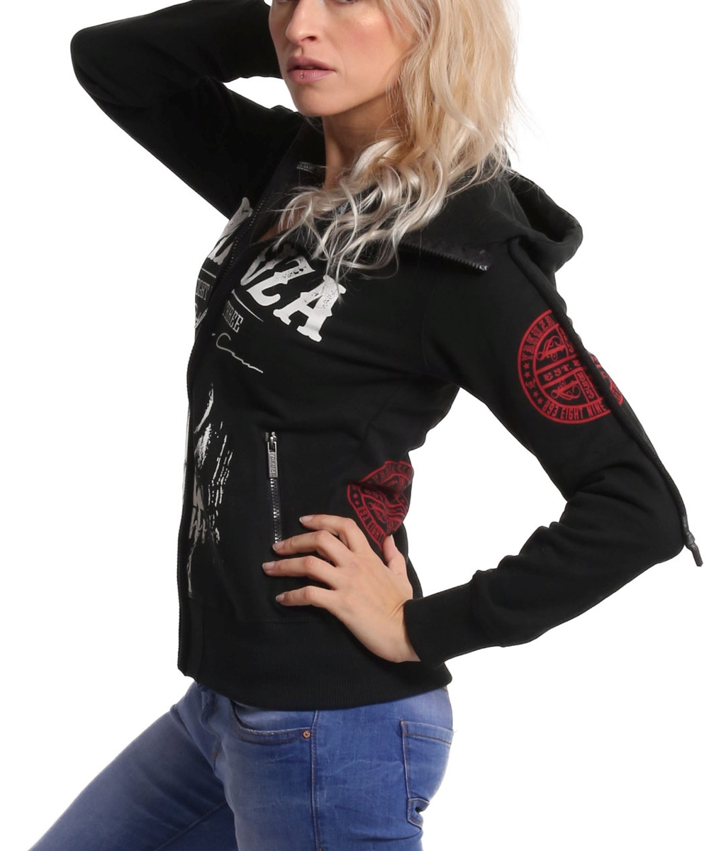 Yakuza Daily Skull High Neck Kapuzenjacke GHZB-11109 black