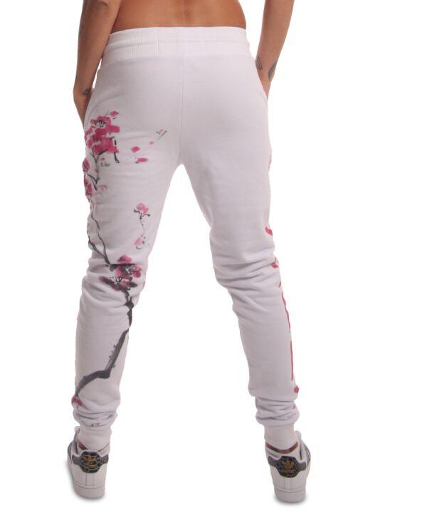 Yakuza Cherry Blossom Jogginghose GJOB-17141 weiß