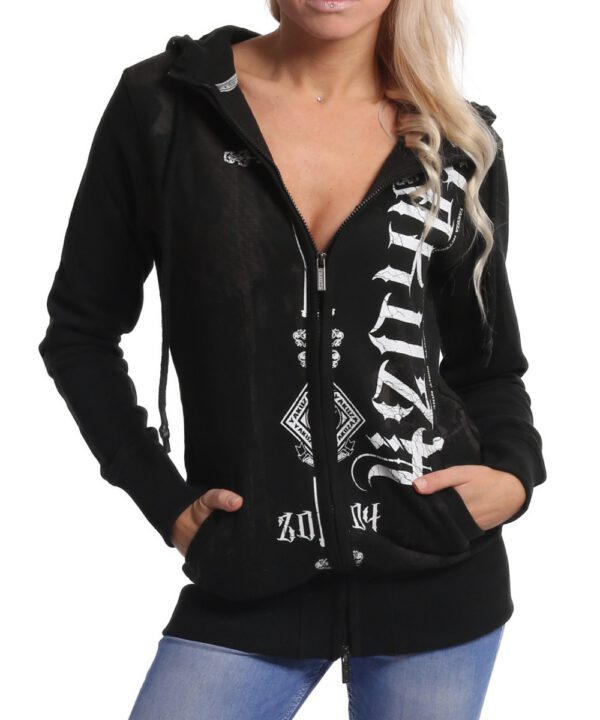 Yakuza Dark Side Long Kapuzenjacke GLHZB-9138 schwarz