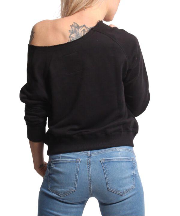 Yakuza Muerte Romantica Wide Crew Sweatshirt GPB-17109 black