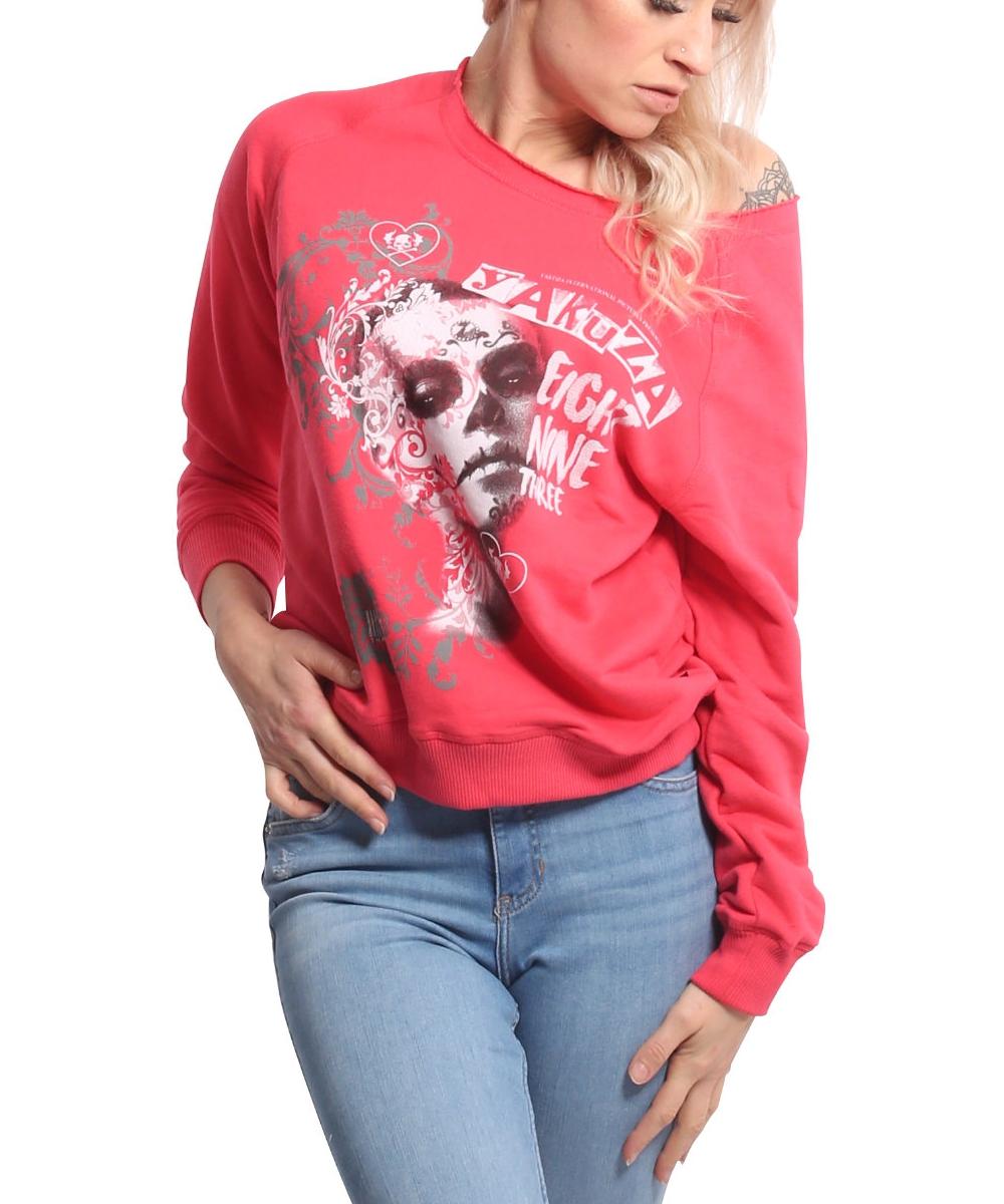 Yakuza Muerte Romantica Wide Crew Sweatshirt GPB-17109 geranium
