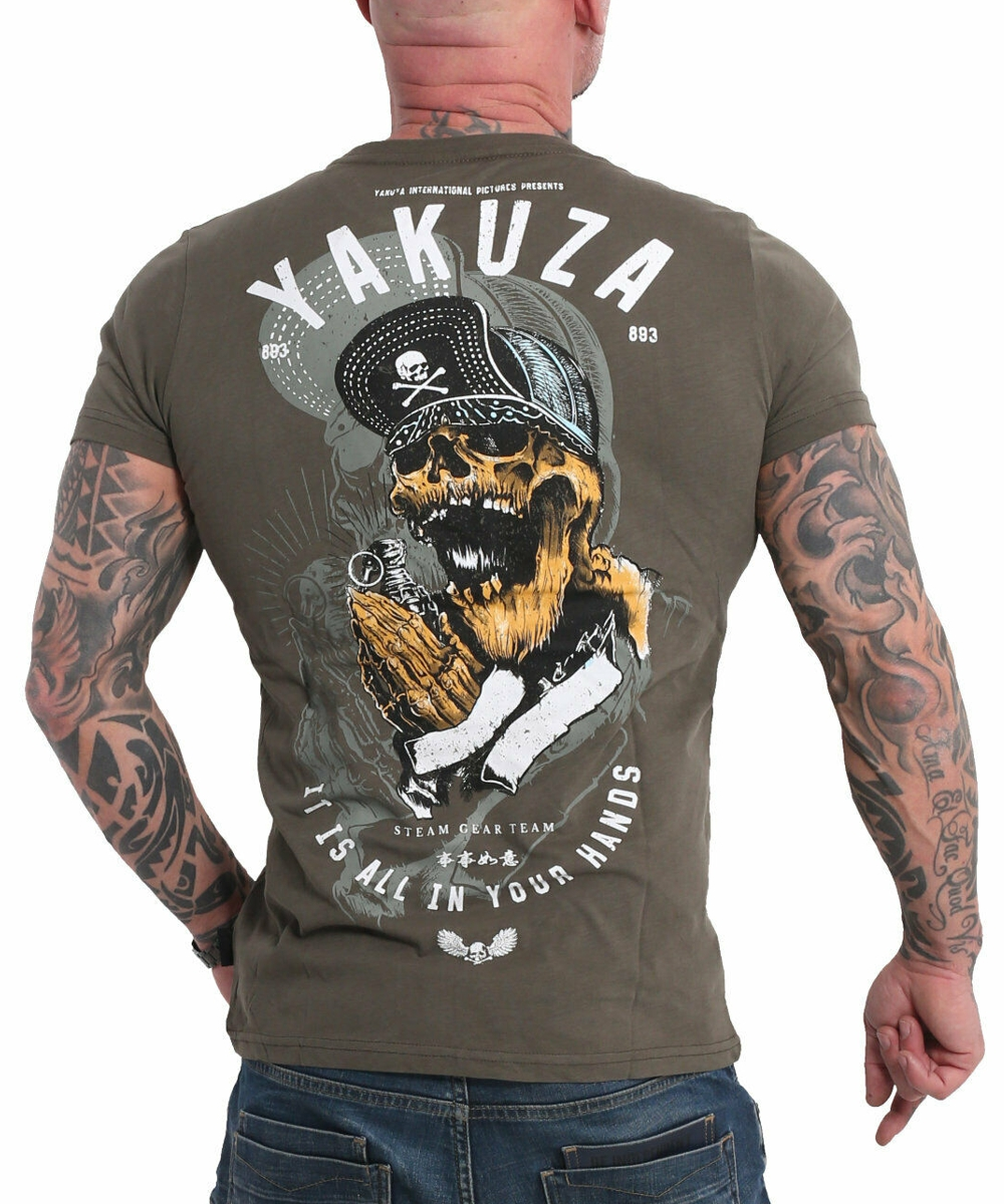 Yakuza Wey T-Shirt TSB-17035 grape leafe