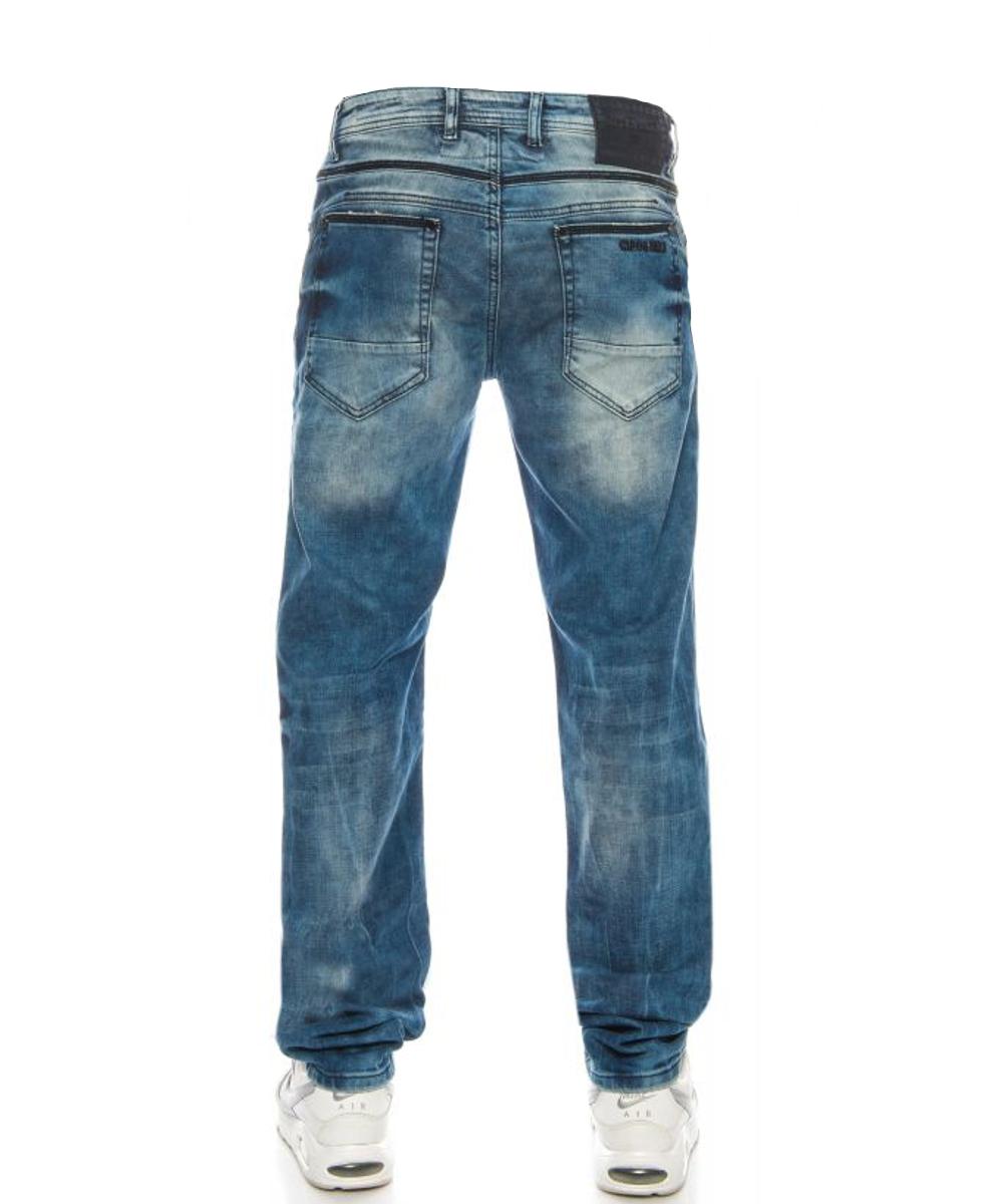 Cipo & Baxx Herren Jeans CD499 Blau