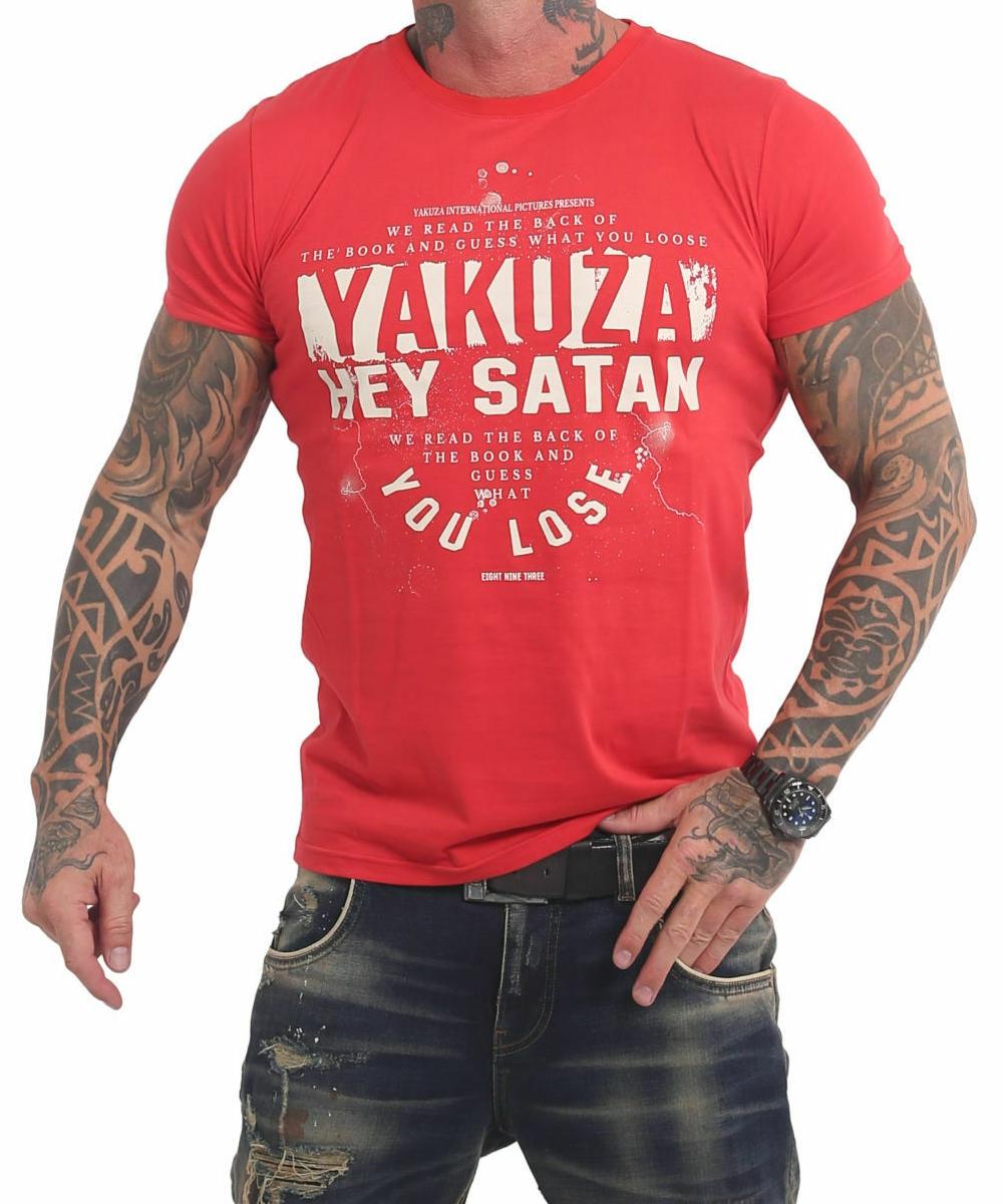 Yakuza Hey Satan T-Shirt TSB-17023 rot