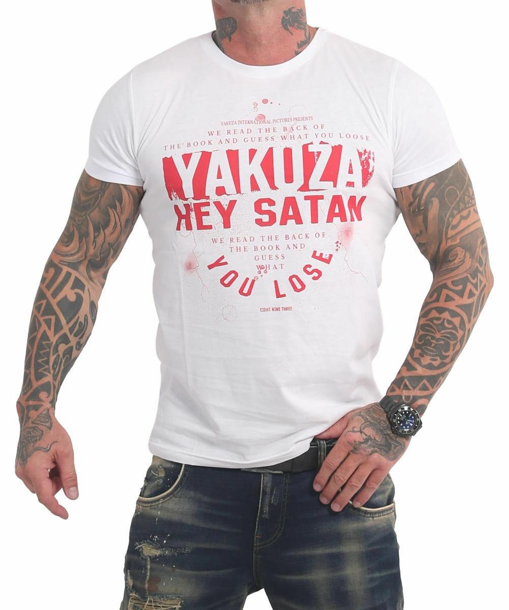 Yakuza Hey Satan T-Shirt TSB-17023 weiß