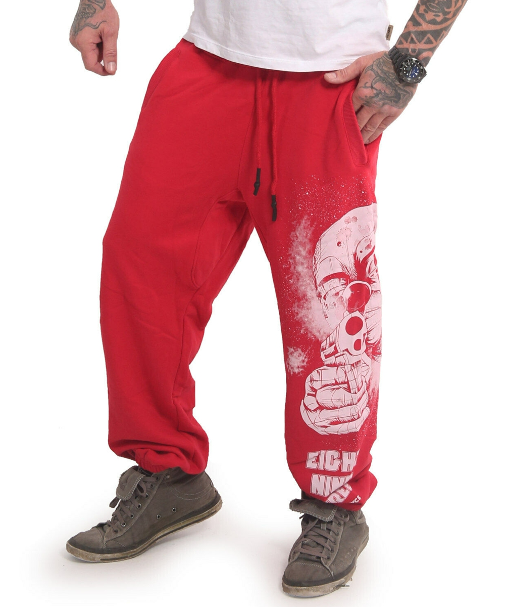 Yakuza Hating Clown Loose Jogginghose JOB-17049 rot