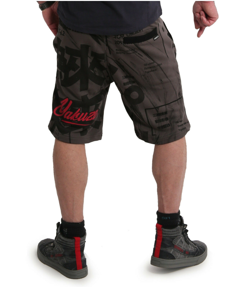 Yakuza Nippon Stylez Sweat Shorts SSB-18016 black ink