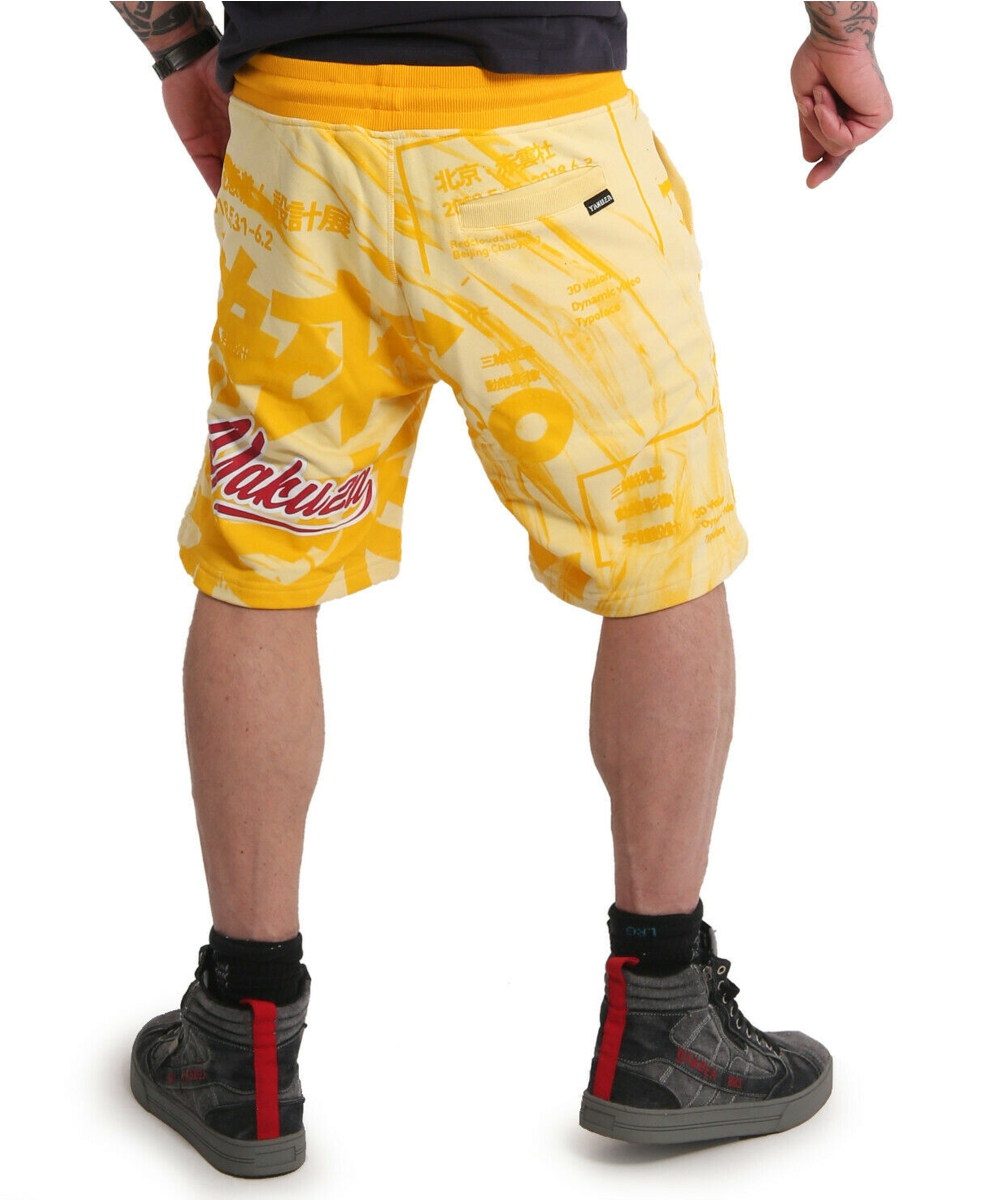 Yakuza Nippon Stylez Sweat Shorts SSB-18016 pale banana