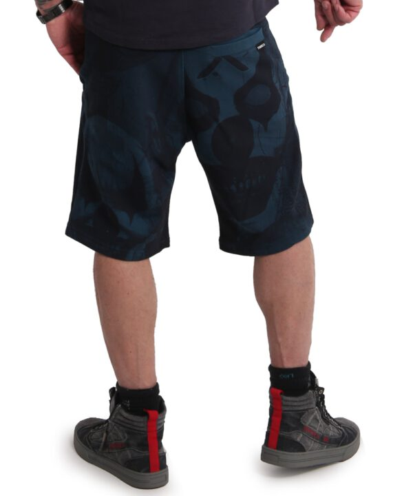 Yakuza Psycho Clown Sweat Shorts mallard blue