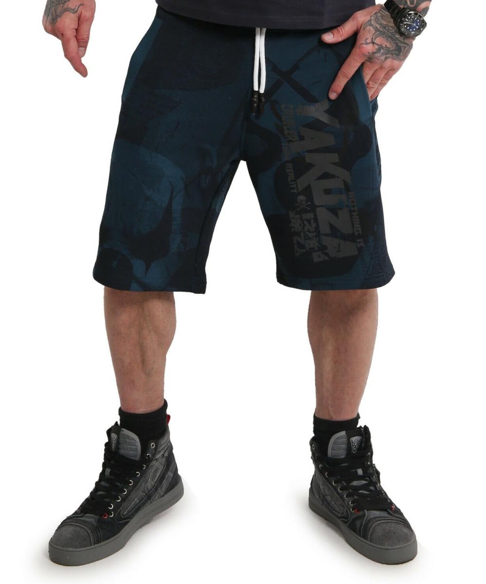 Yakuza Psycho Clown Sweat Shorts mallard blue