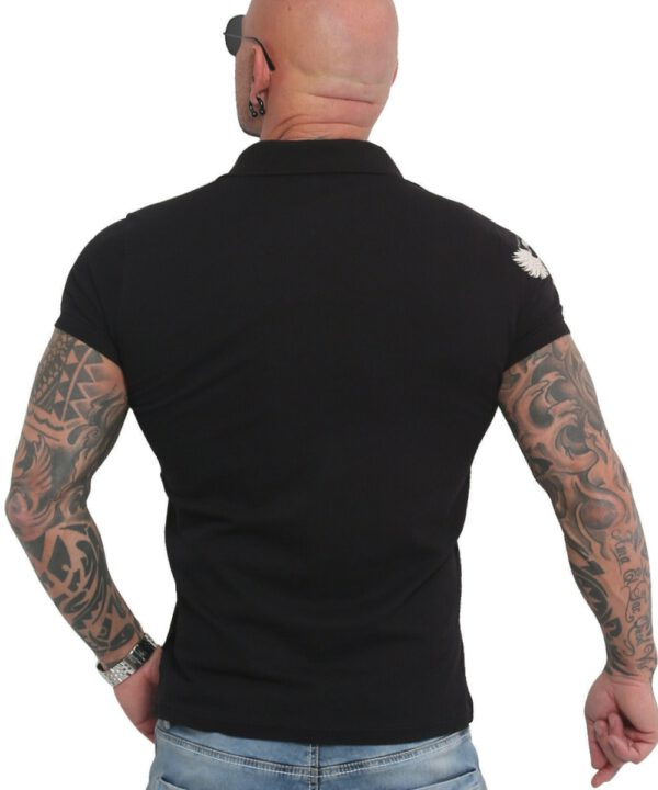 Yakuza Pointing Pikee Polo Shirt TPO-16033 black