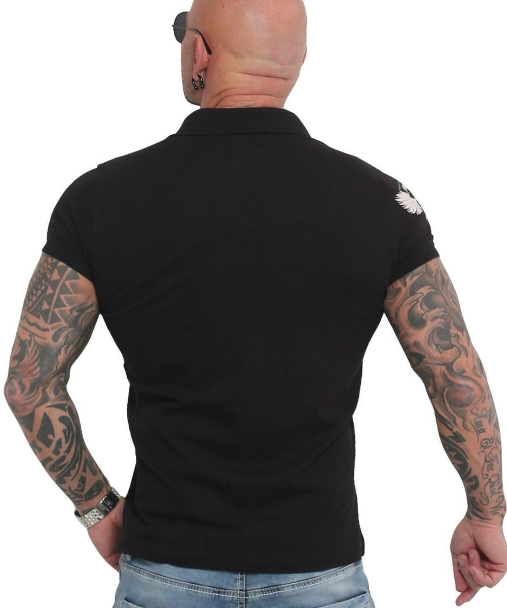 Yakuza Pointing Pikee Polo Shirt TPO-16033 black