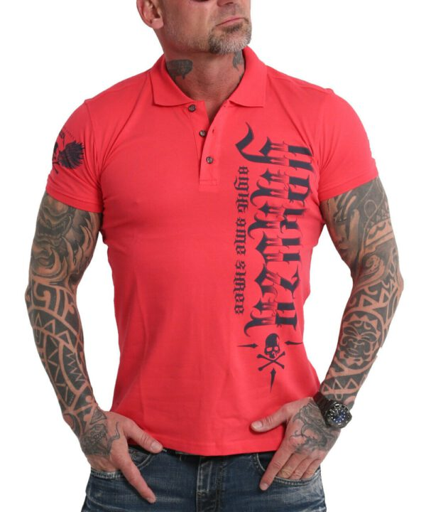 Yakuza Pointing Pikee Polo Shirt TPO-16033 geranium