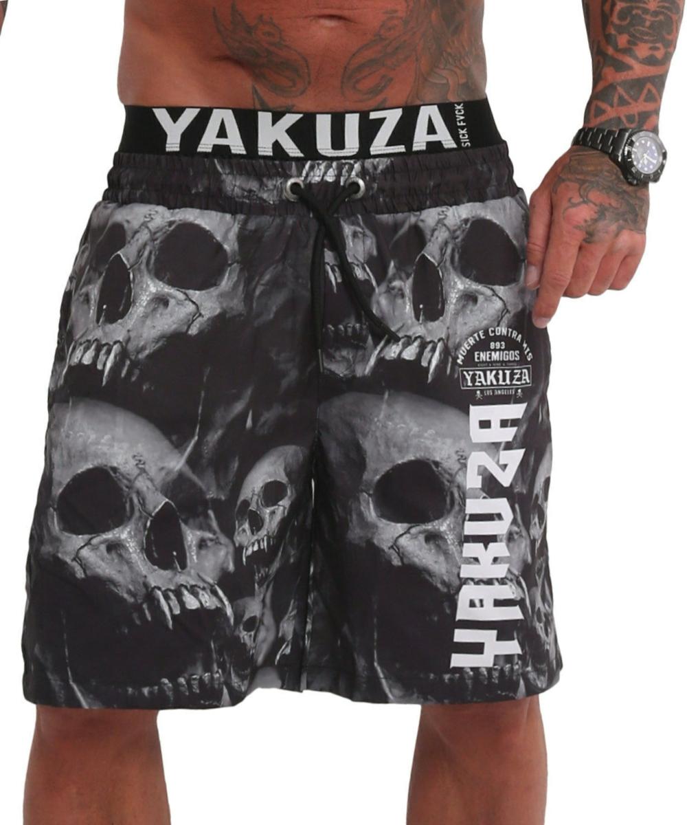 Yakuza Muerte Skull V02 Flex Badeshorts BSB-180104