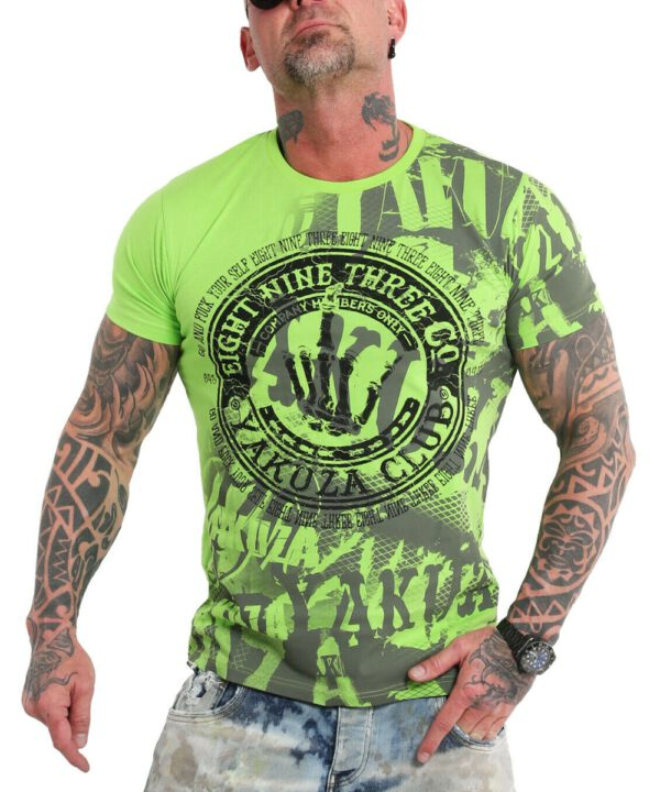 Yakuza Yakuza Club T-Shirt TSB-9021 jasmin green