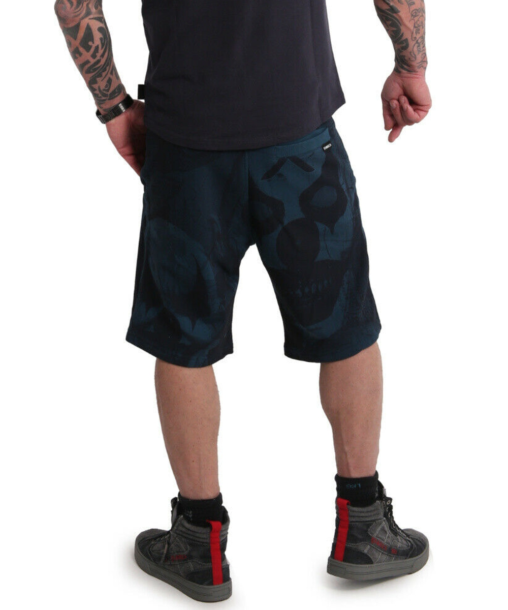Yakuza Psycho Clown Sweat Shorts SSB-18015 mallard blue