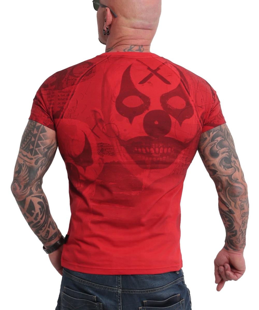 Yakuza Psycho Clown Allover T-Shirt TSB-18052 ribbon red
