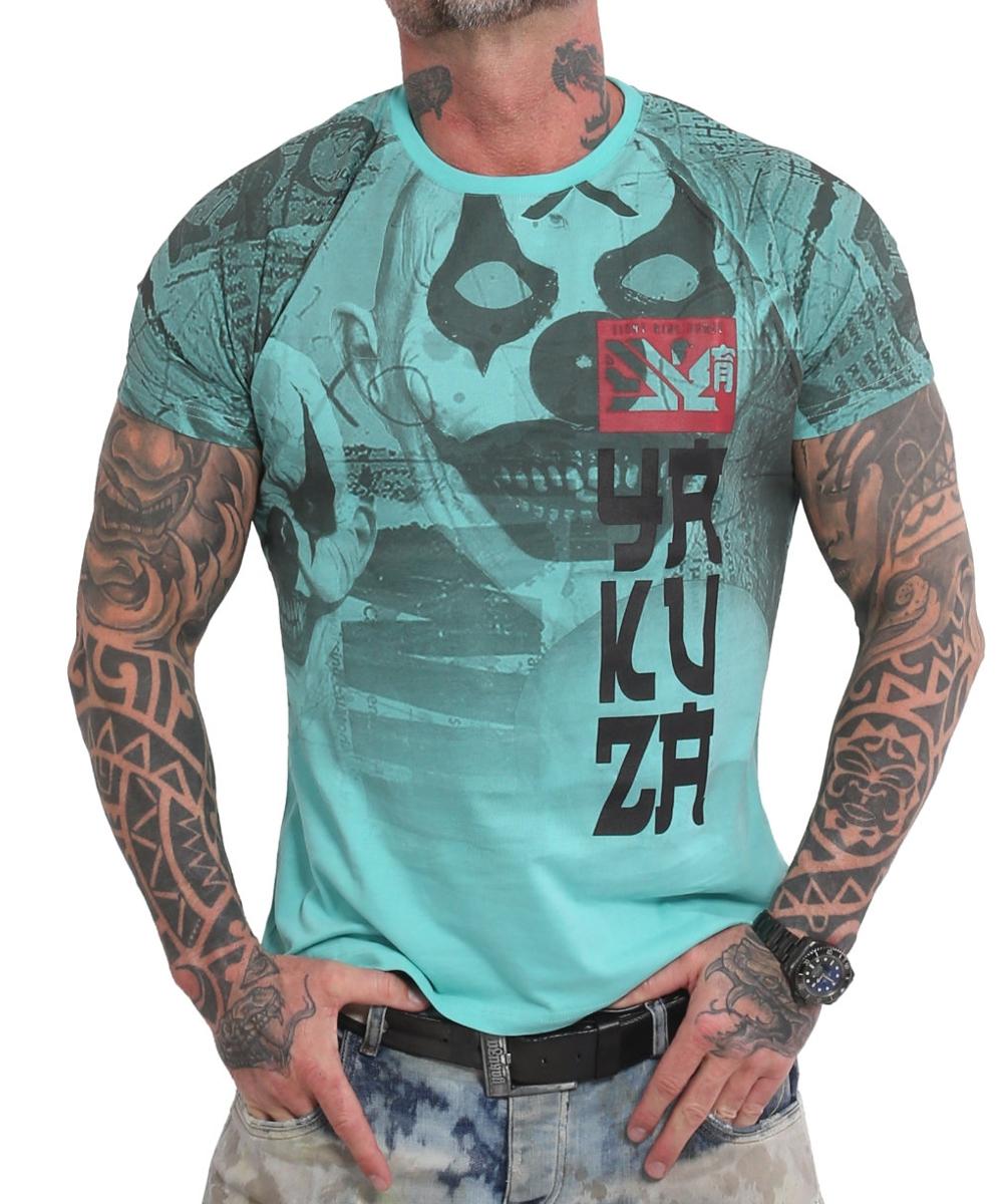 Yakuza Psycho Clown Allover T-Shirt turquoise