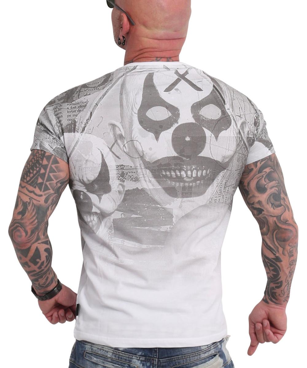 Yakuza Psycho Clown Allover T-Shirt TSB-18052 weiß