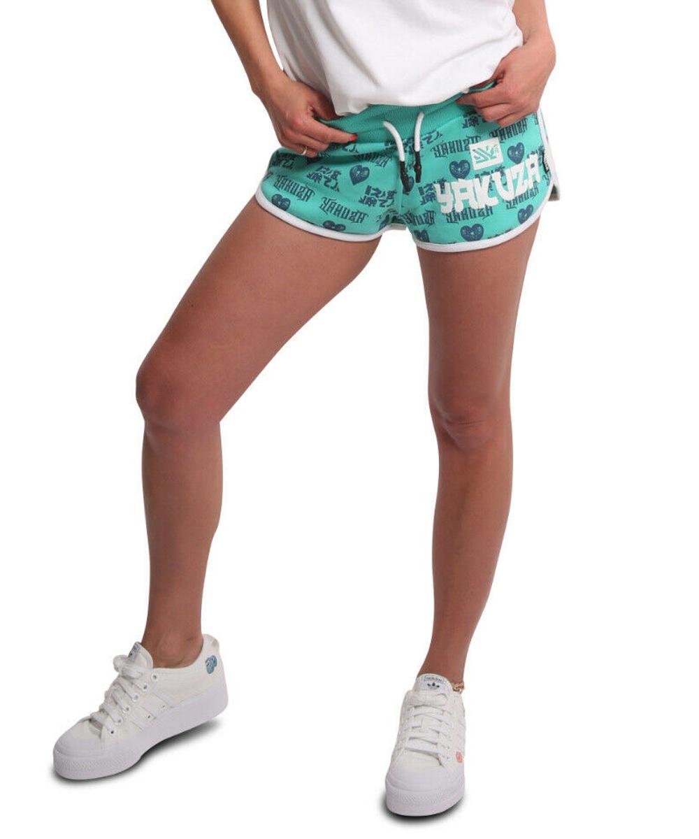 Yakuza Logo Love Sweat Shorts GSSB-18117 turquoise
