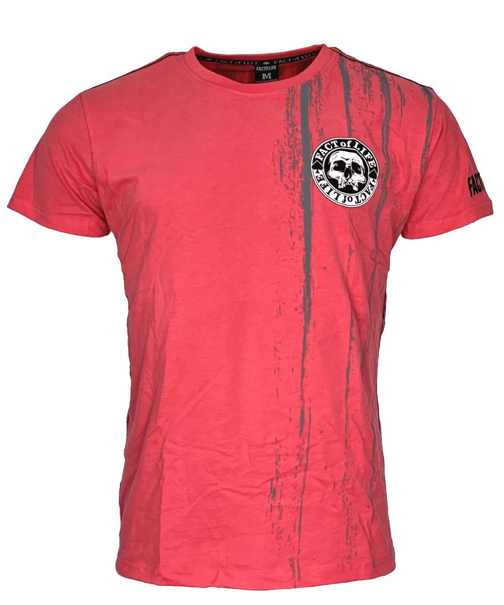 """Fact of Life T-Shirt """"Fallen Bird"""" TS-46 geranium"""