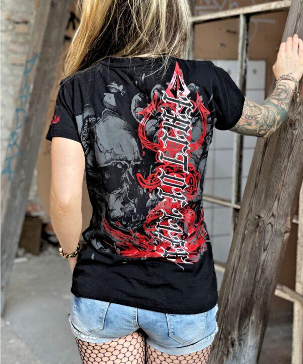 "Fact of Life Frauen T-Shirt ""Death Kiss"" Shirt GS-03 black"