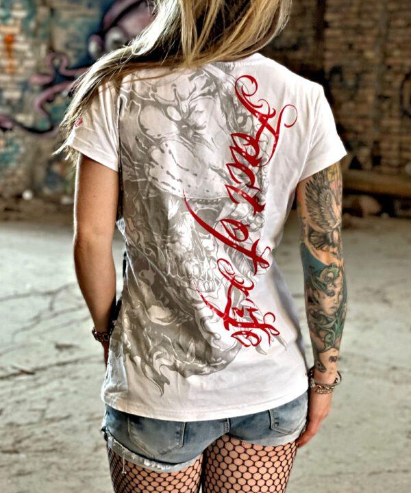 """Fact of Life Frauen T-Shirt """"Wild Skull"""" GS-02 weiß"""