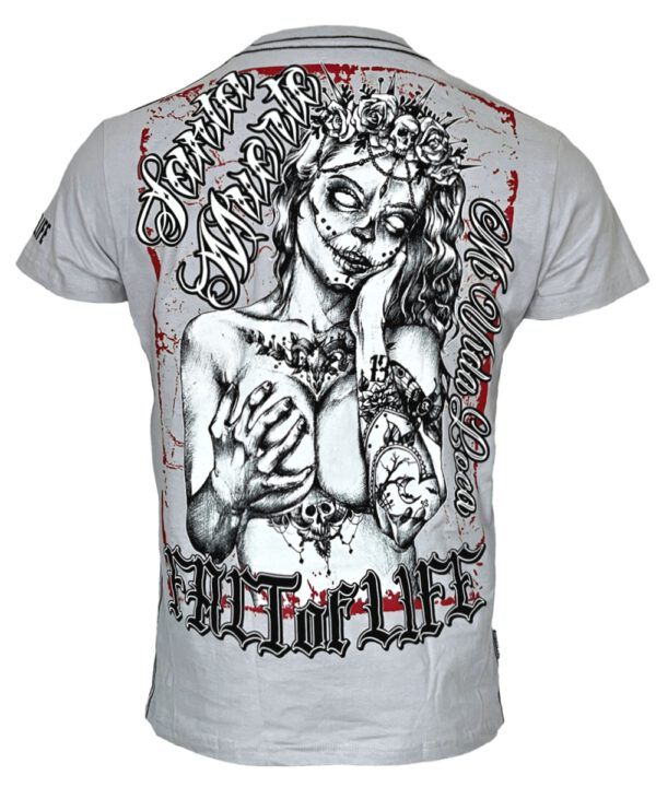 "Fact of Life T-Shirt ""Santa Muerte"" TS-39 light grey"